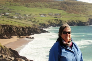 Brenda on her most recent trip to Ireland - Slea Head Drive, Dingle, 2012