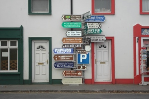 Ballyvaughan signs (photo Regan McCormack, 2009)