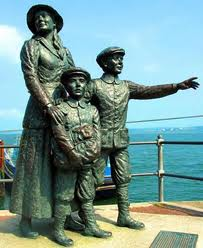 Annie Moore with brothers, Cobh, County Cork