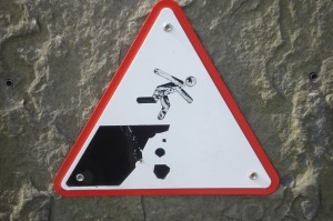 My favorite warning sign, posted at the Cliffs