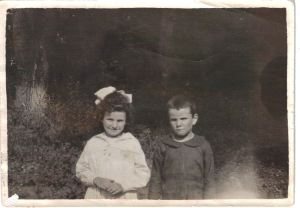 Grandma with her brother Frank, llong before she perfected her boiled dinner.