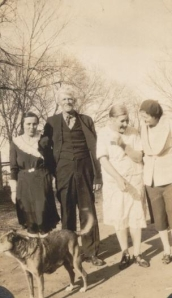 Neil with his wife Annie and her nieces