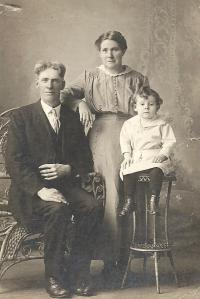 Annie with husband (Neil) and son (John)