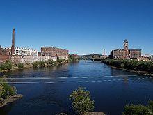 Merrimack River in Lawrence, Massachusetts