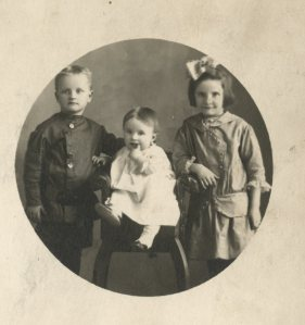 Francis (baby) with brother John and sister Winifred