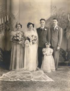 Agnes and John Regan, with guess who as the best man...