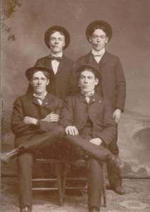 Cornelius Regan and John Foley seated (ATMR Family Collection)
